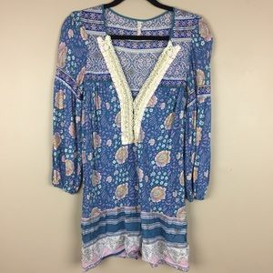 Free People Peasant Floral Tunic M